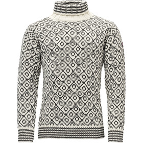 Devold Svalbard High Neck Suéter Hombre, offwhite/anth.